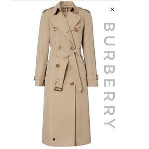 BURBERRY Vintage Cotton Gabardine Trench Coat